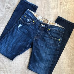 Rich & Skinny straight leg distressed jeans 26